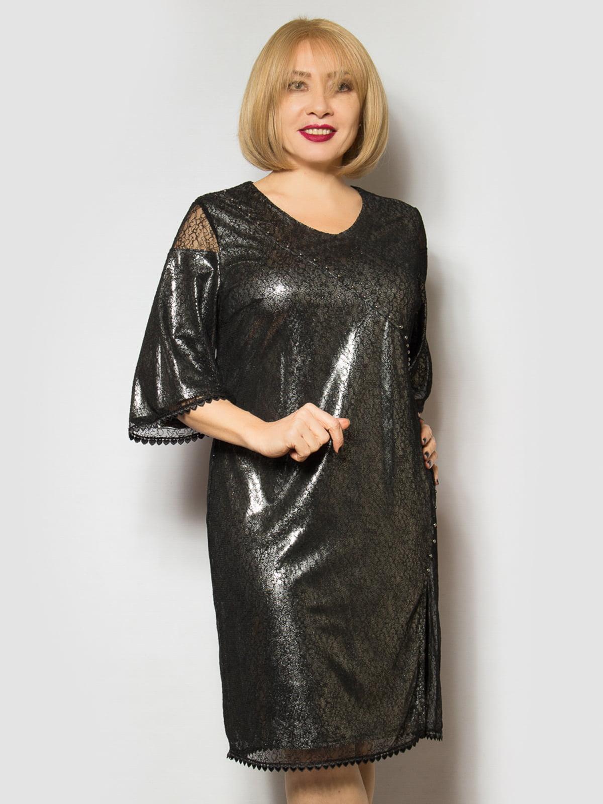 Платье графитового цвета | 4807993