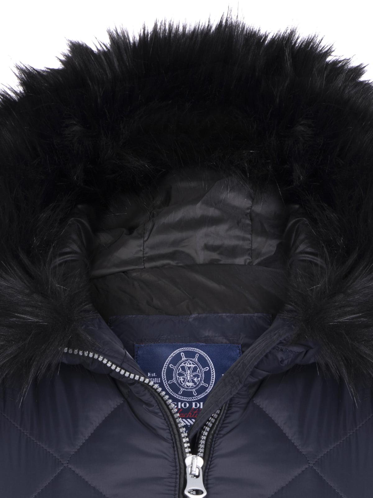Пальто темно-синее | 4808382 | фото 2