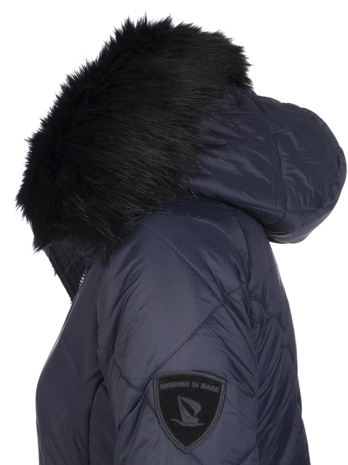 Пальто темно-синее | 4808382 | фото 3