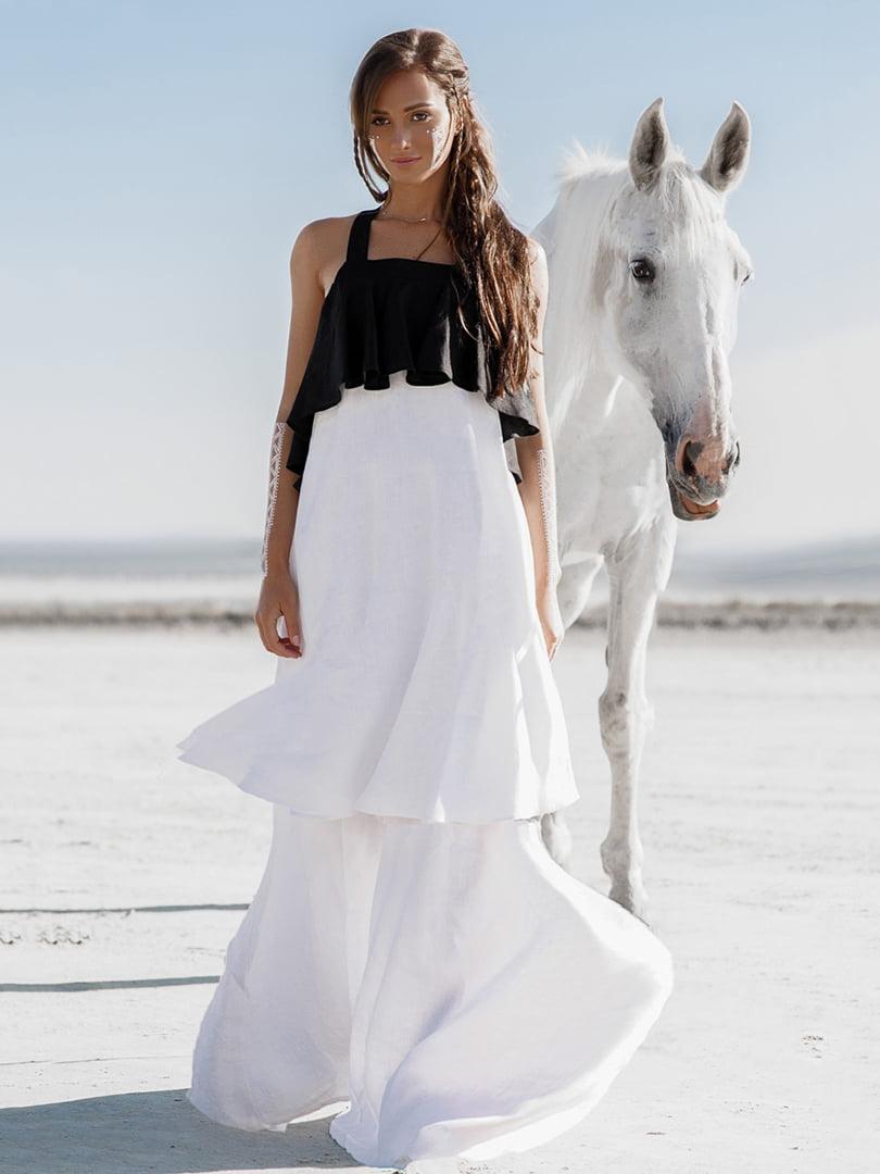 Сарафан черно-белый | 4539037