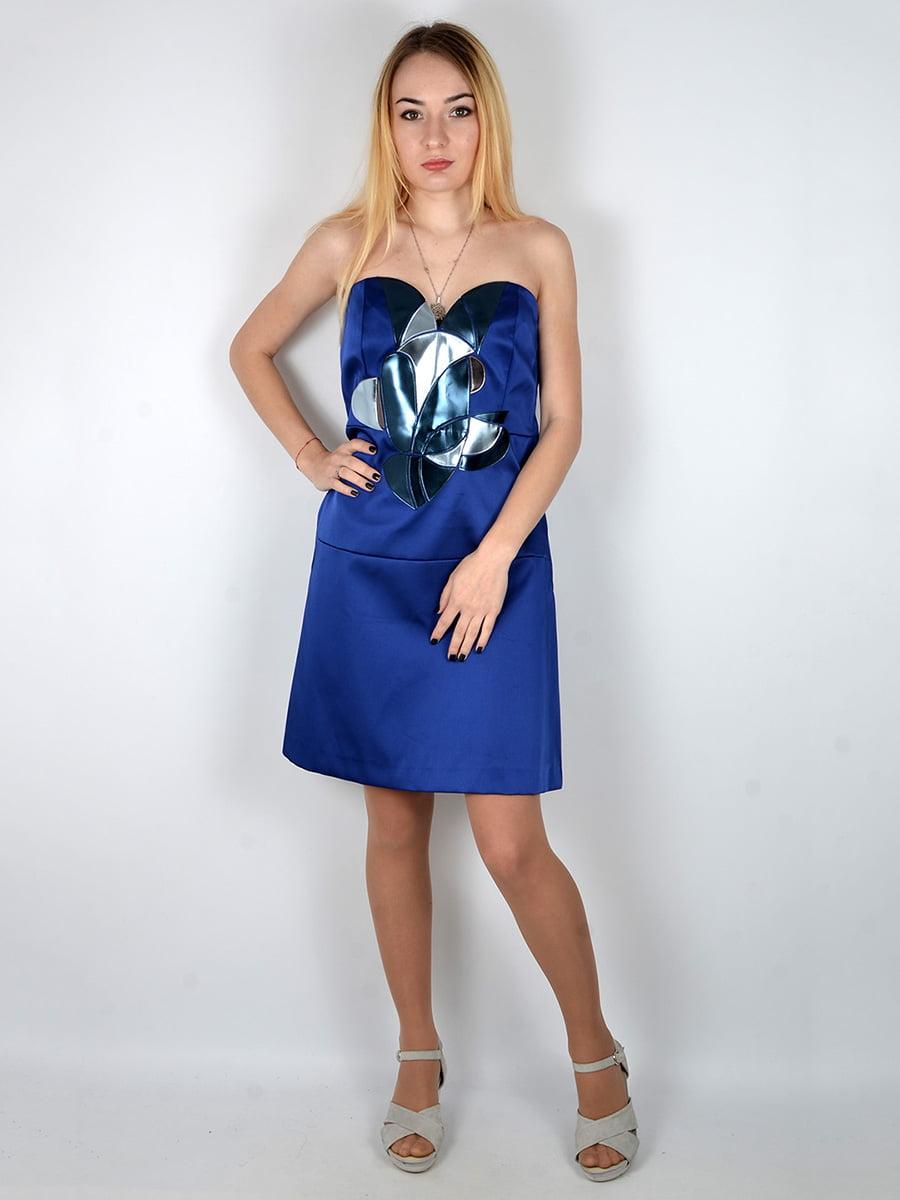 Платье синее | 3166636 | фото 2