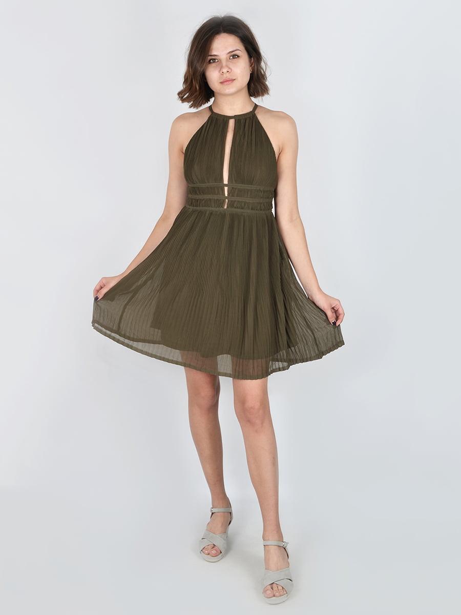 Сукня кольору хакі | 4576696