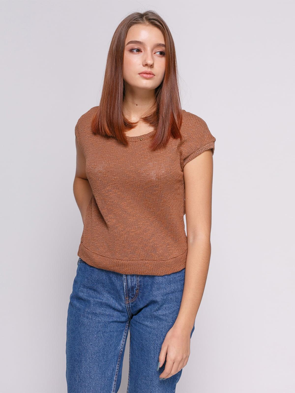 Джемпер коричневий   475071
