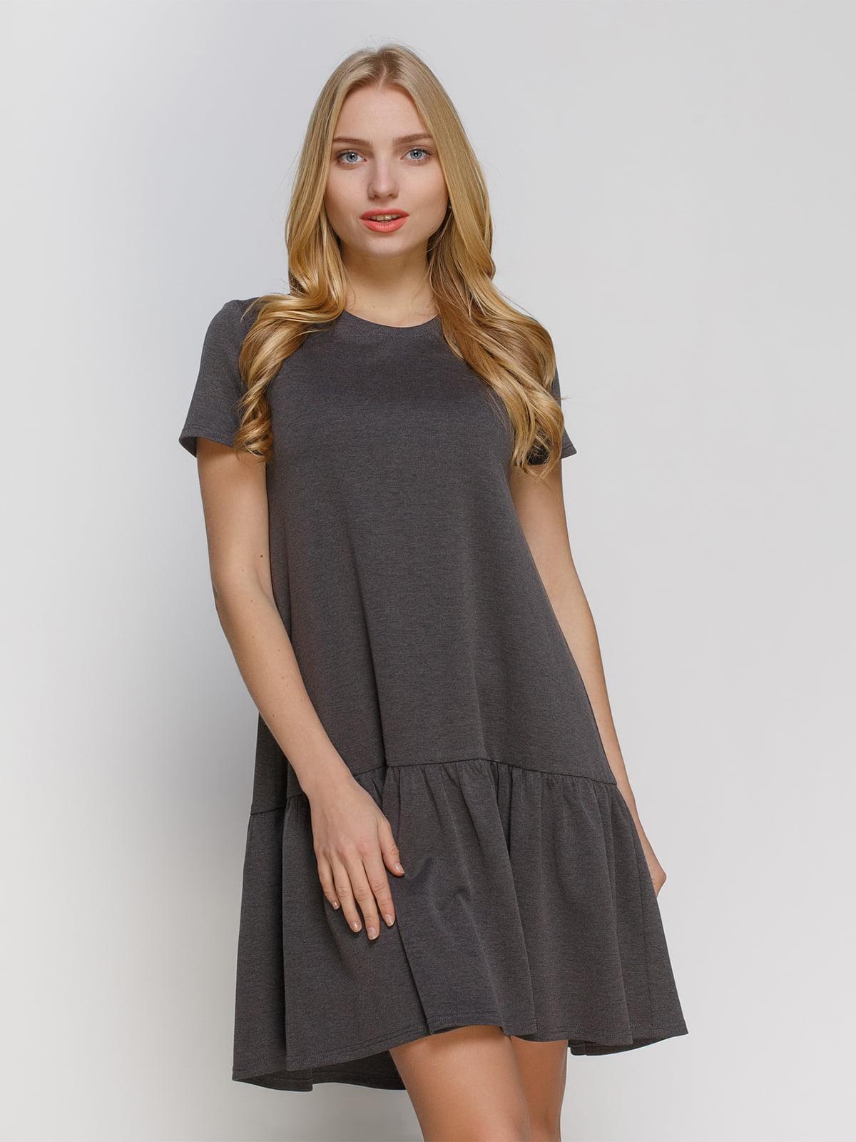 Платье серое   4810158
