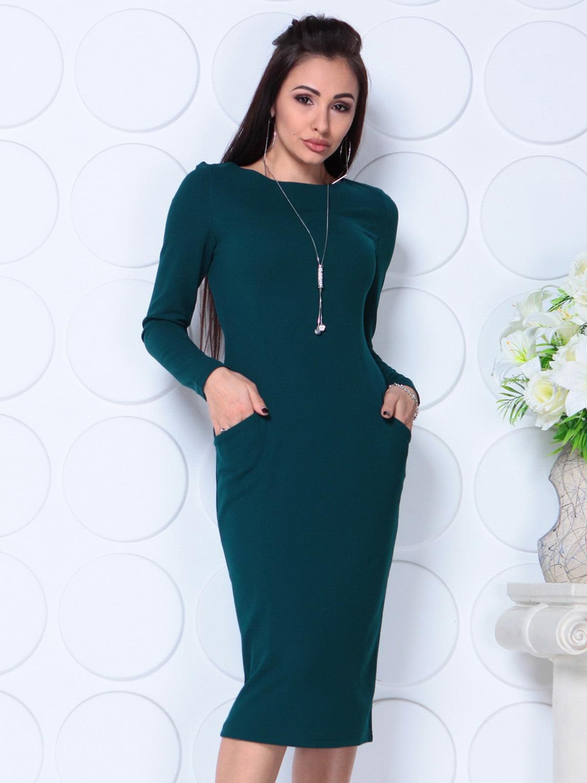 Сукня темно-смарагдового кольору   4783428