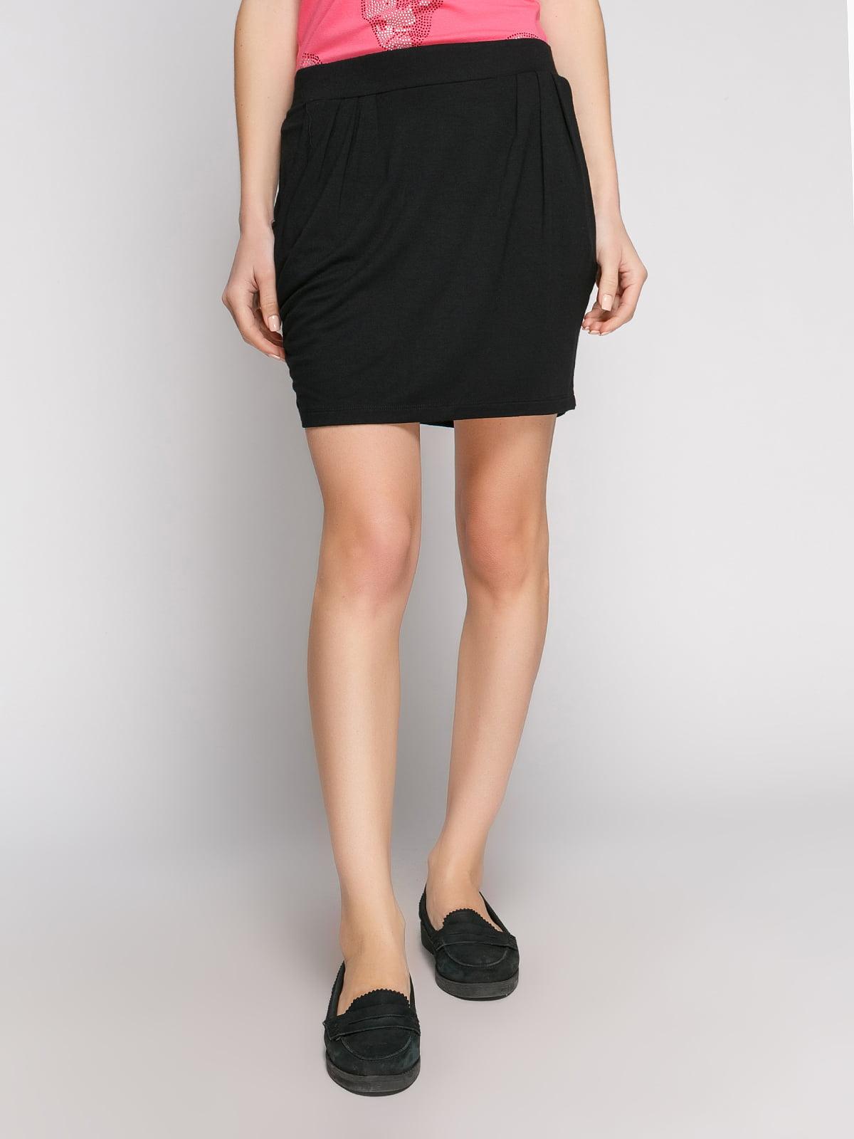 Юбка черная с карманами | 514355