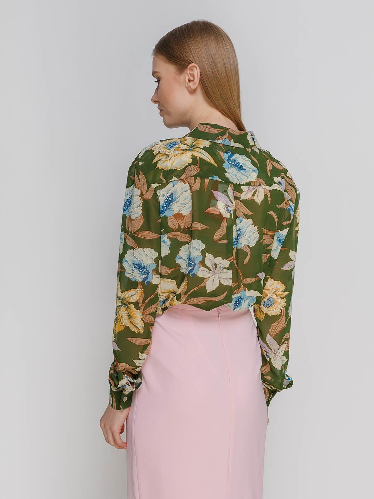 Рубашка в цветочный принт | 4695433 | фото 2