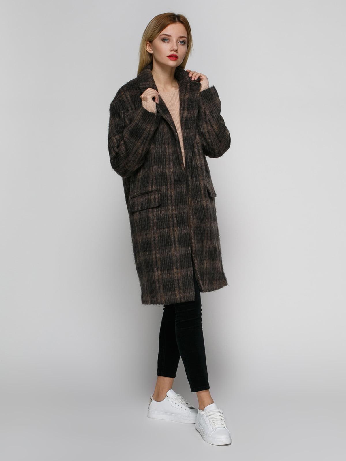 Пальто коричневое | 4790547 | фото 2