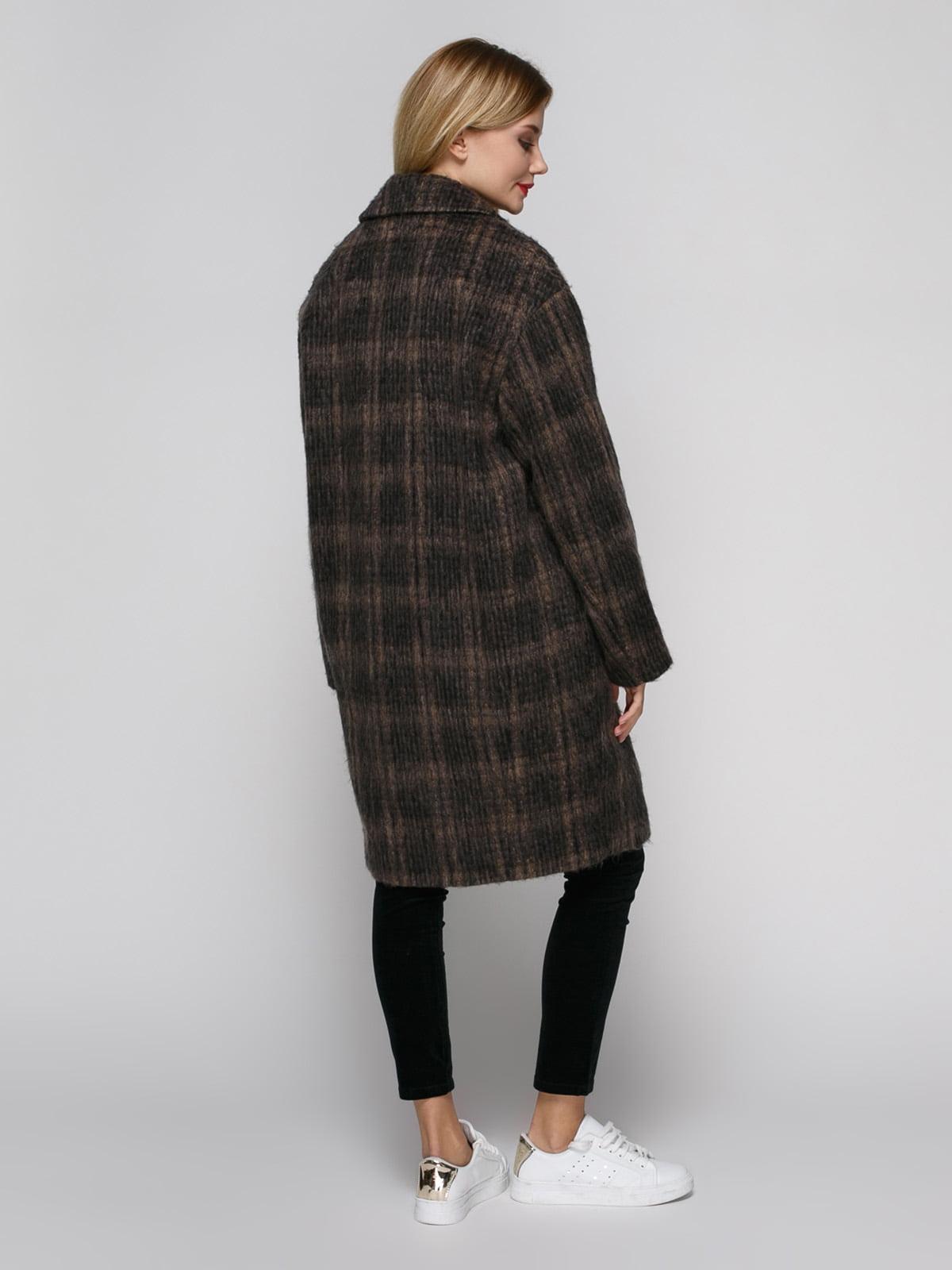 Пальто коричневое | 4790547 | фото 3
