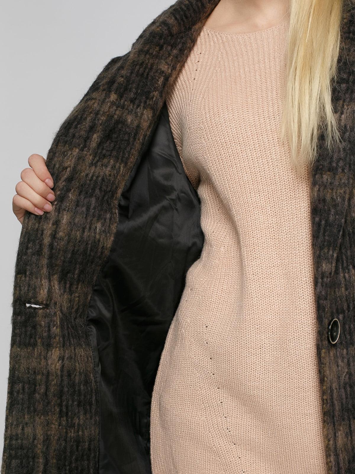Пальто коричневое | 4790547 | фото 4