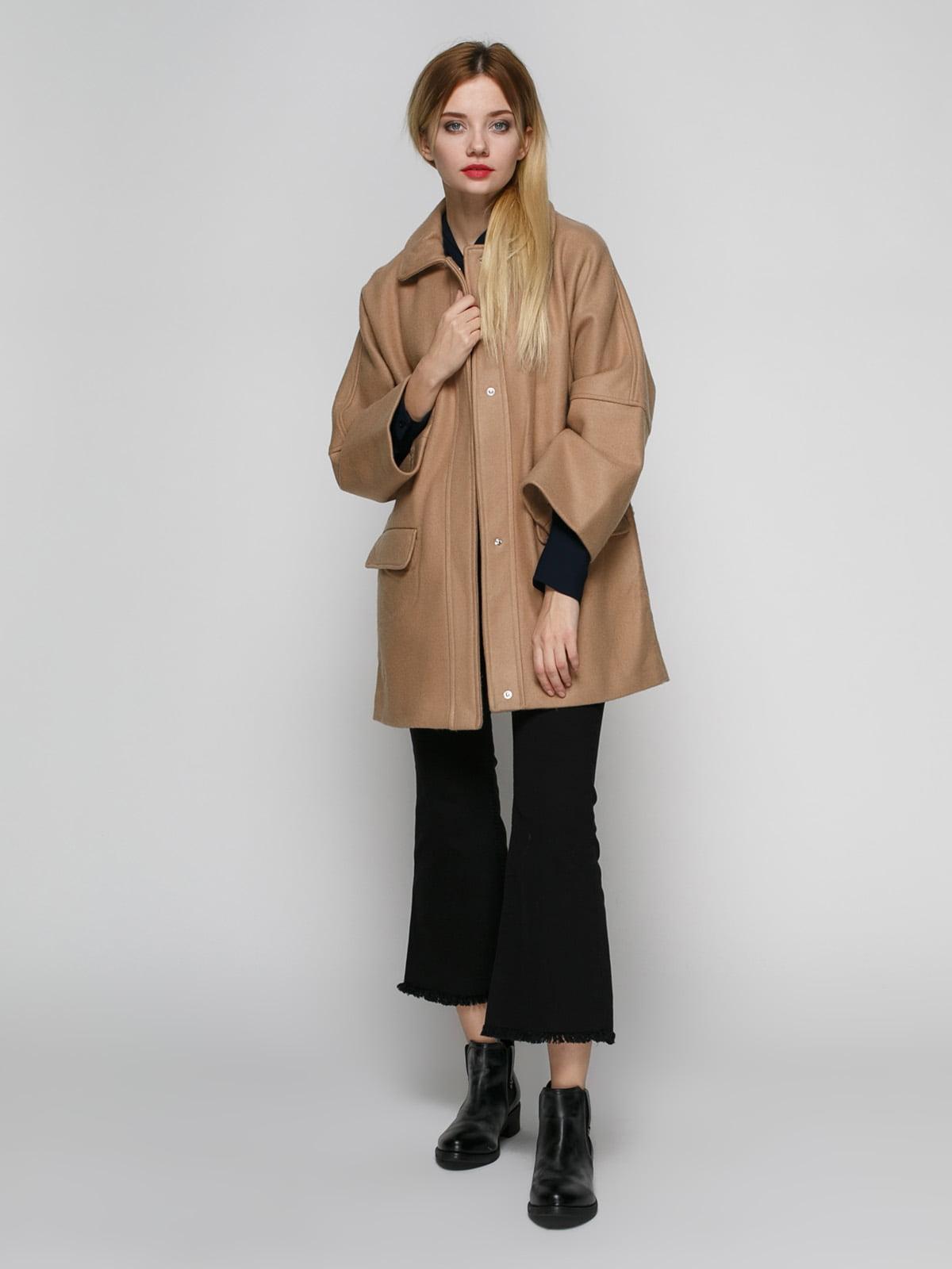 Пальто бежевое | 2687496 | фото 2