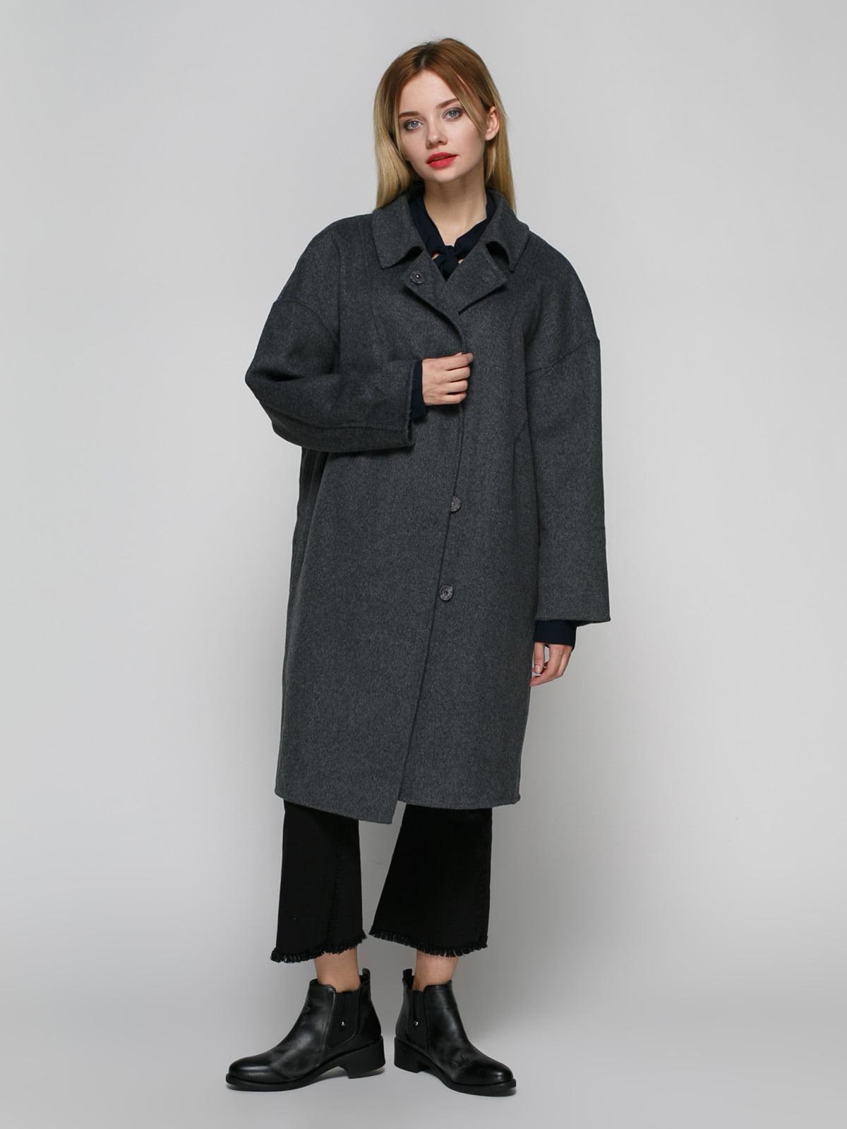 Пальто серое | 4790400 | фото 2
