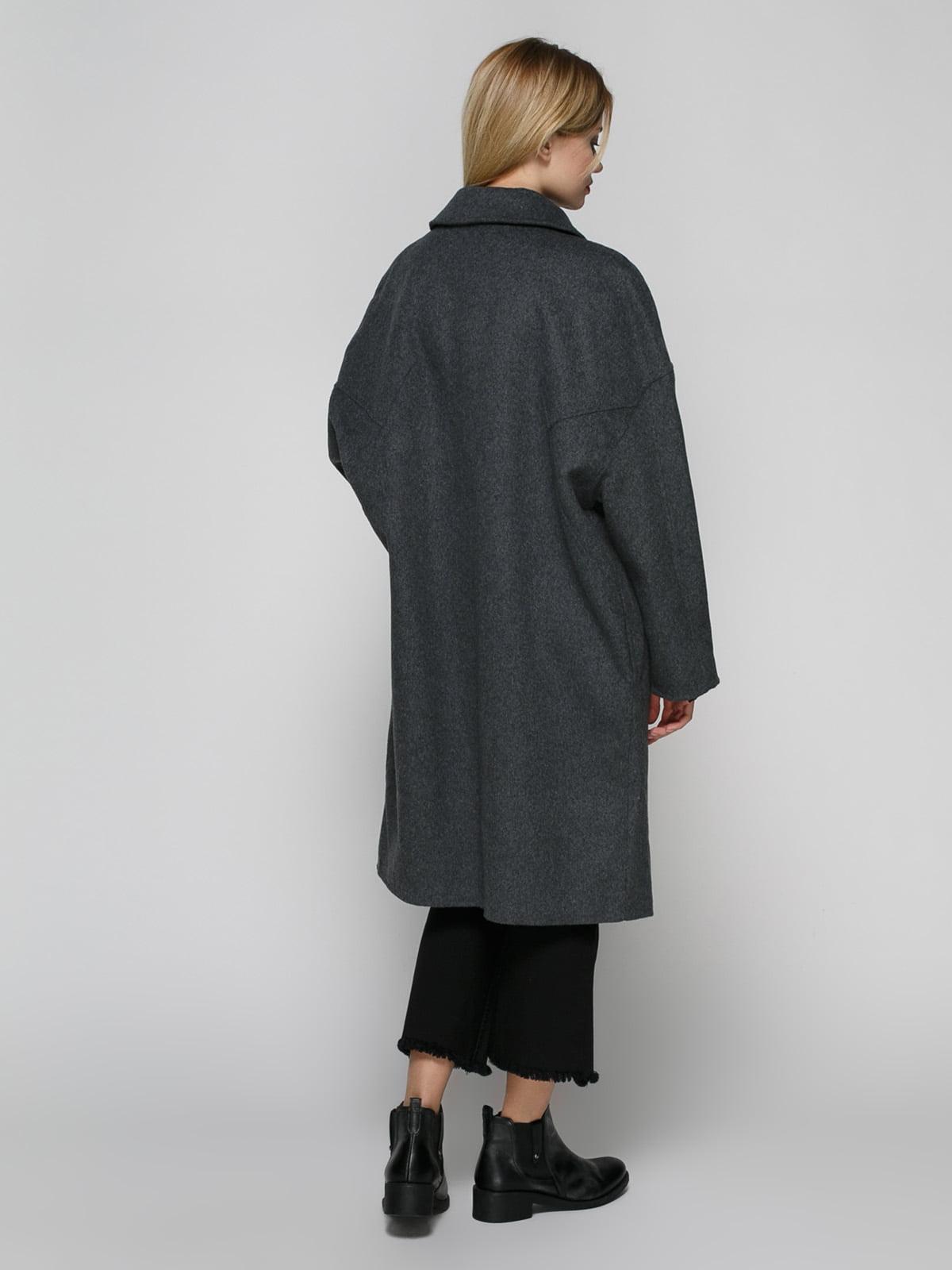 Пальто серое | 4790400 | фото 3