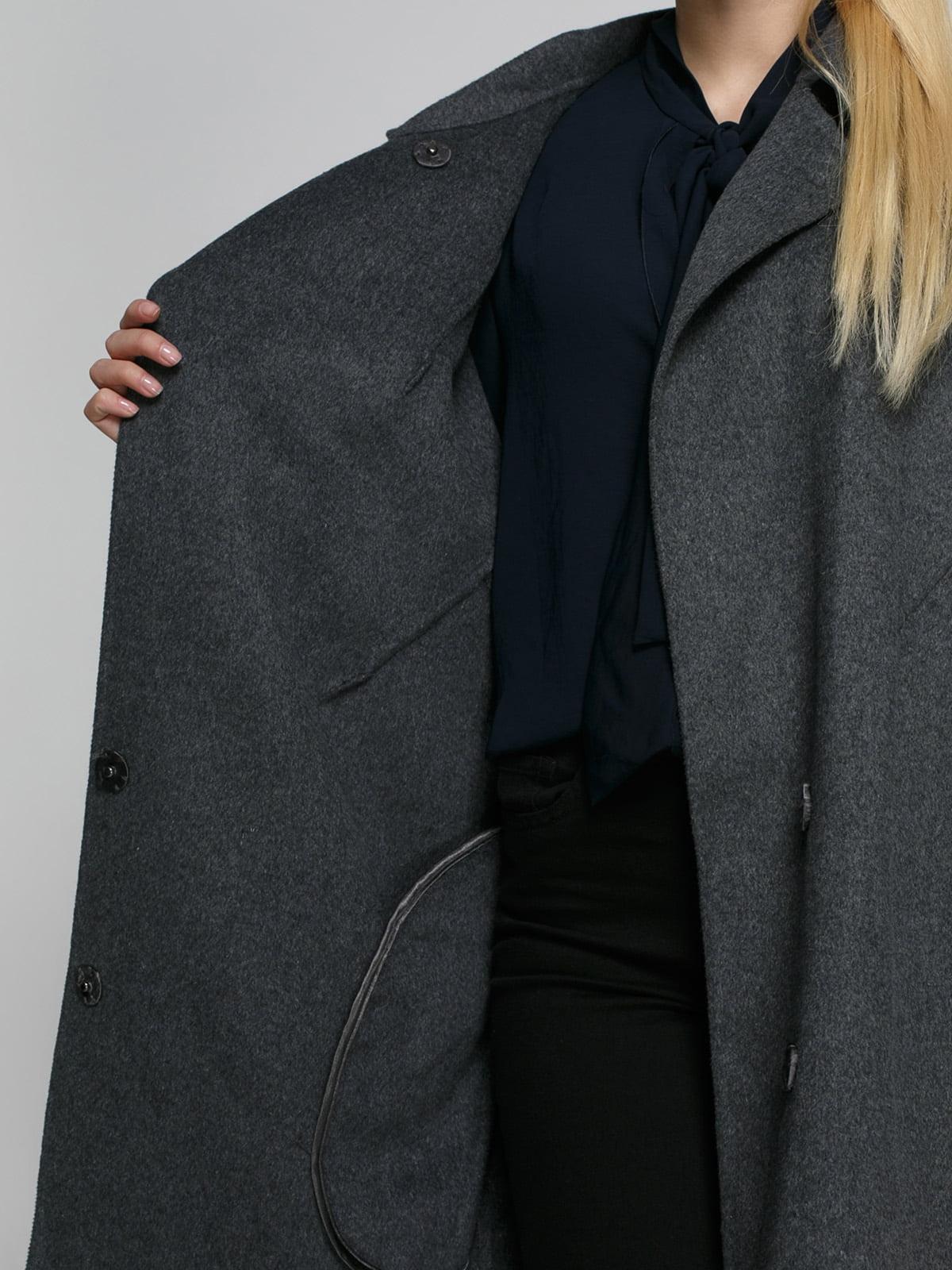Пальто серое | 4790400 | фото 4