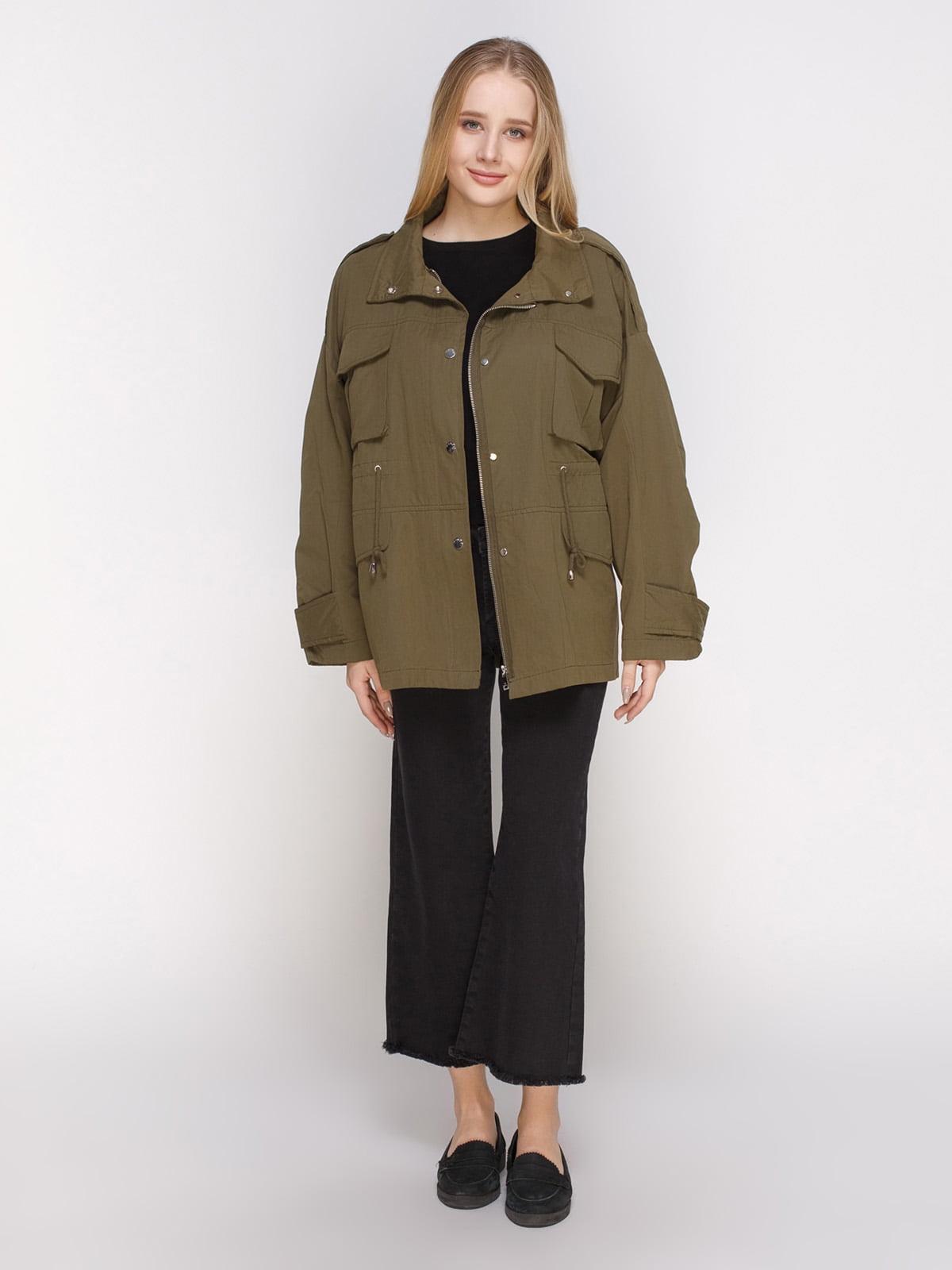 Куртка цвета хаки | 4790354 | фото 2