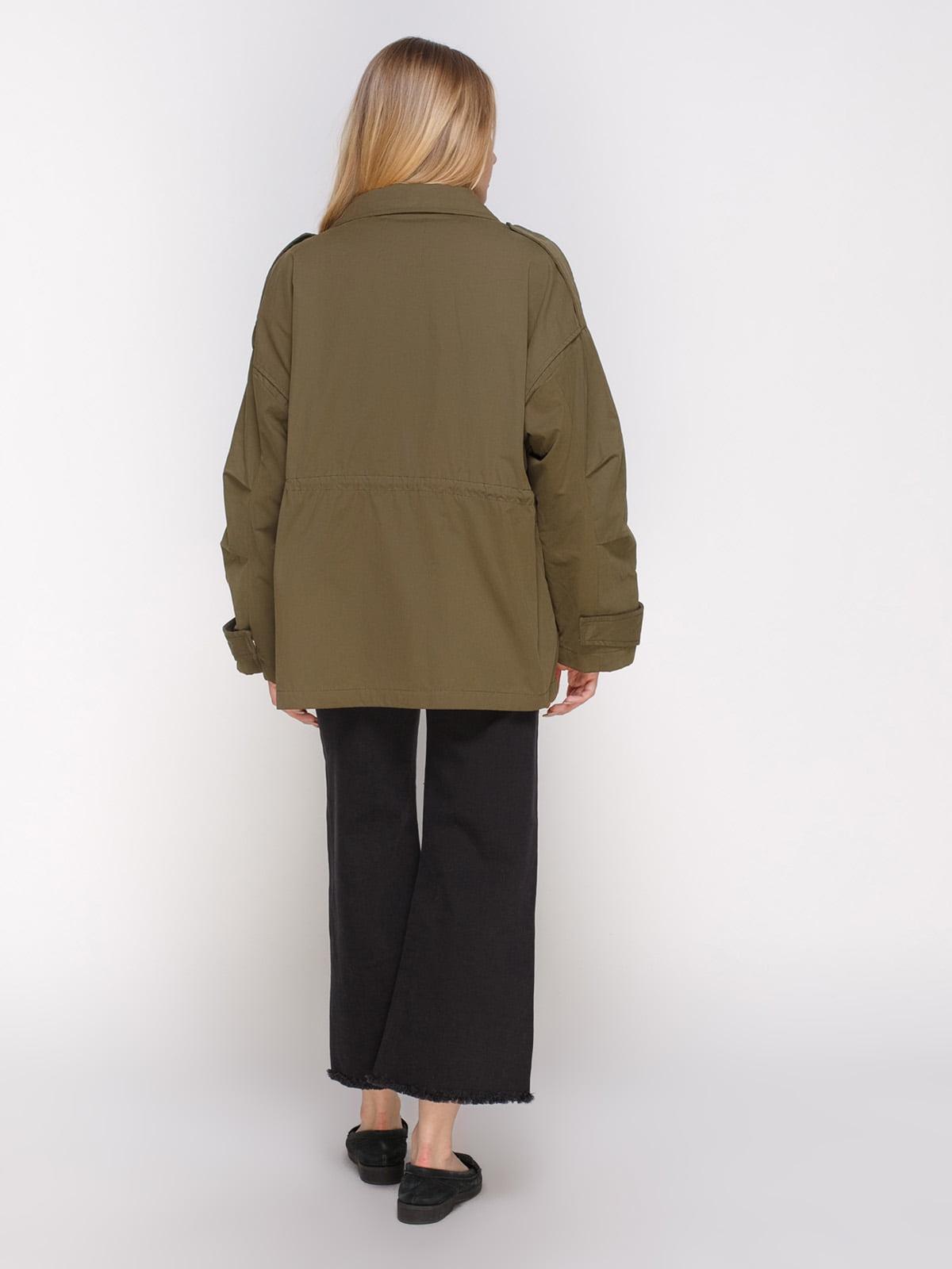 Куртка цвета хаки | 4790354 | фото 3