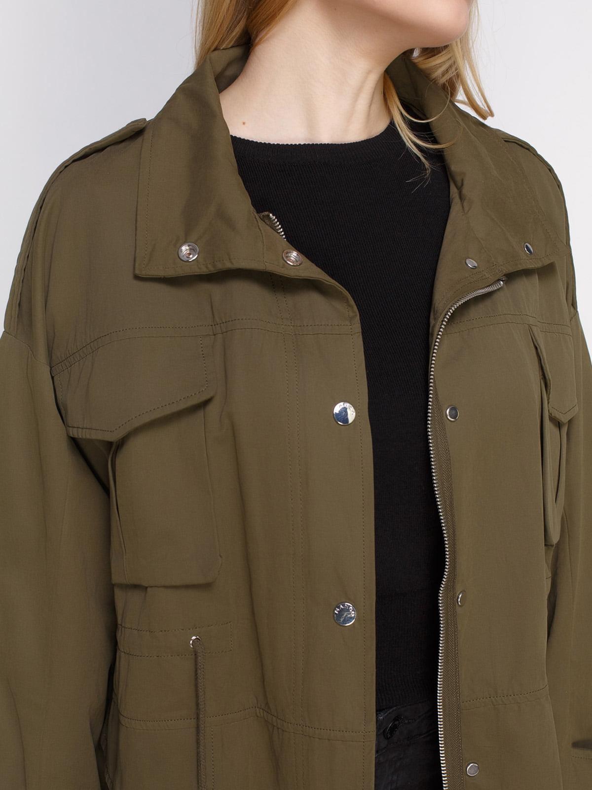 Куртка цвета хаки | 4790354 | фото 4