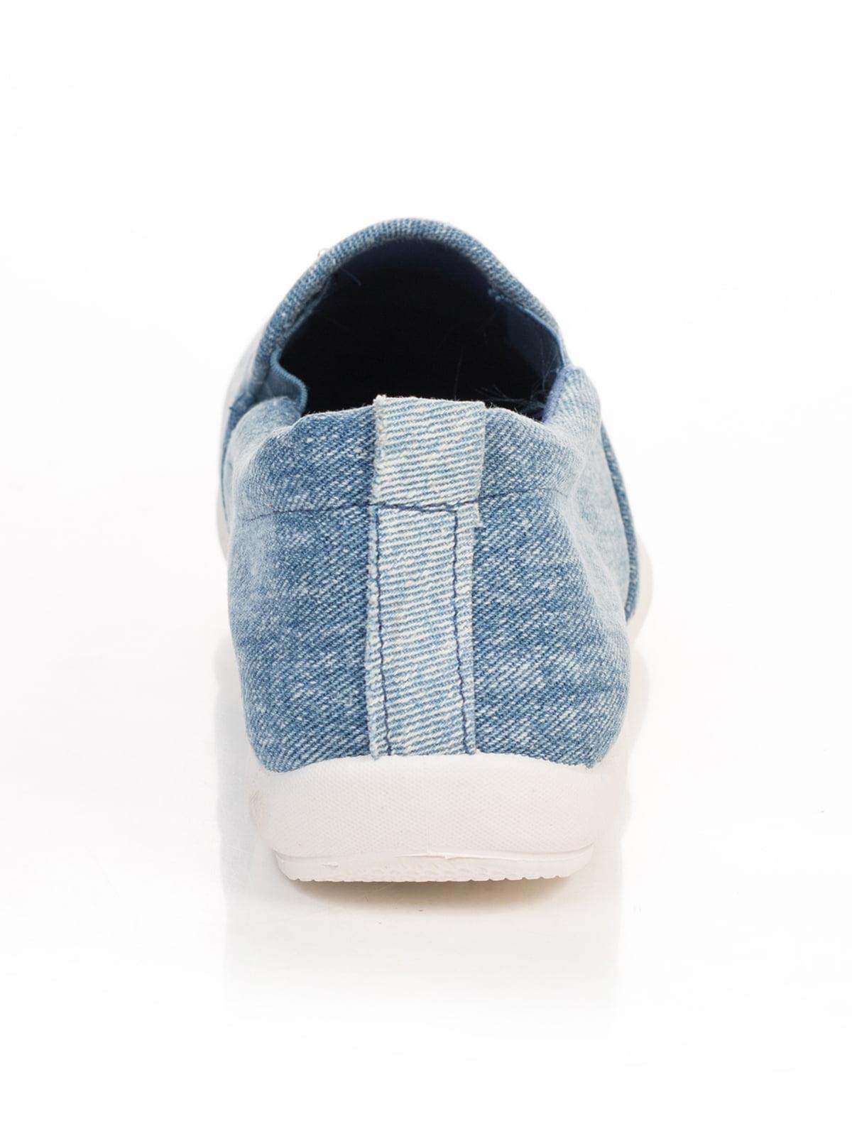 Слипоны джинсового цвета | 4809007 | фото 3