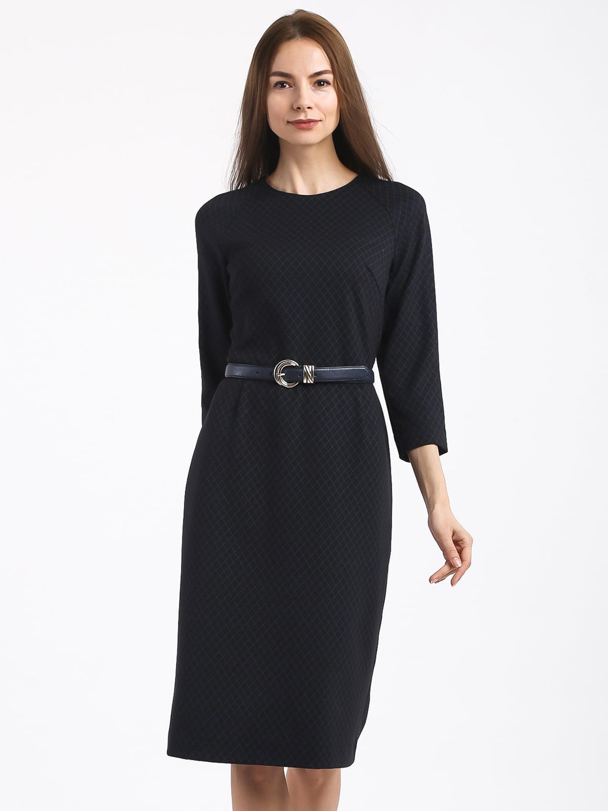 Платье черное в клетку | 4817084