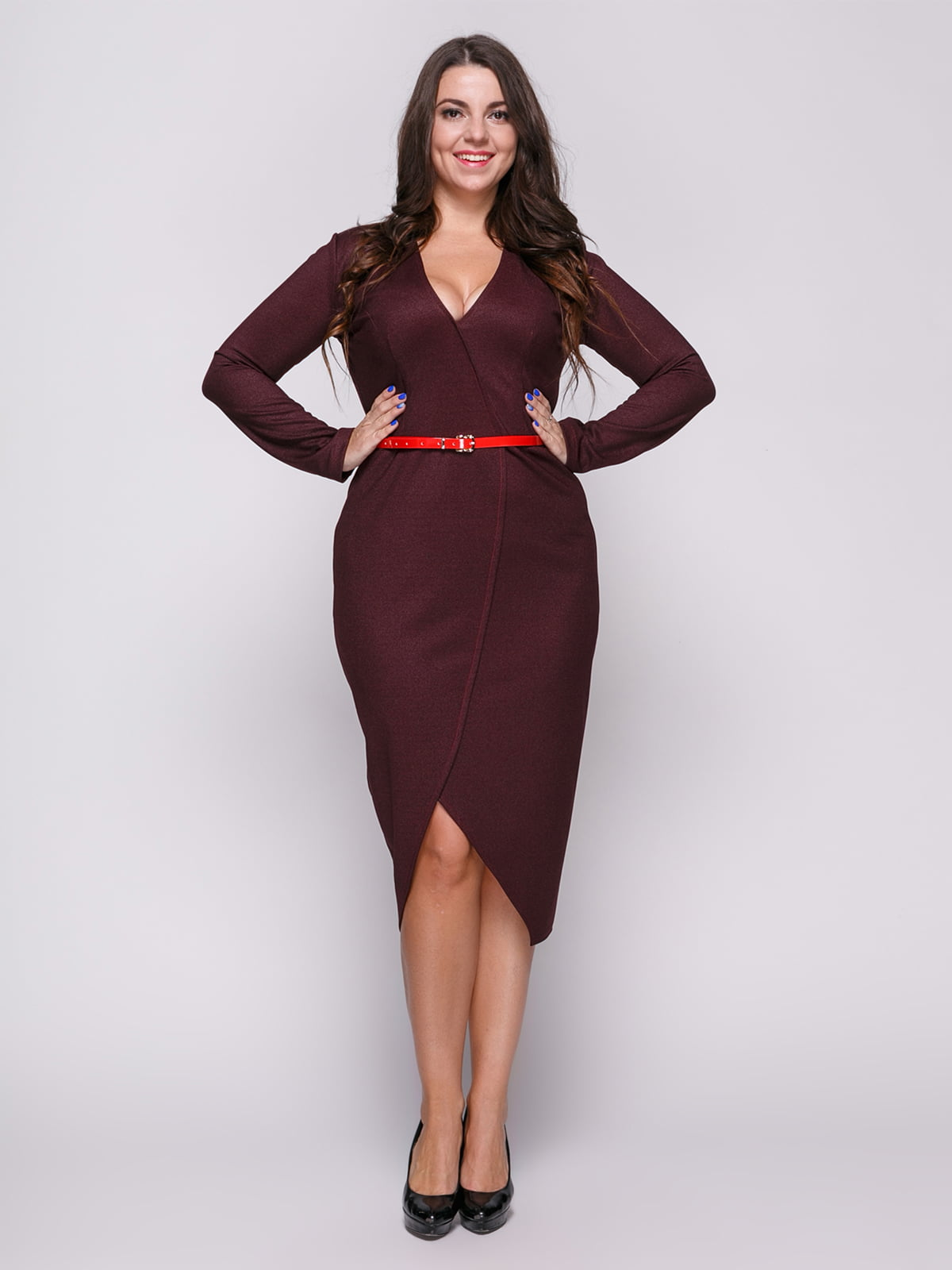 Сукня кольору марсала | 4695827