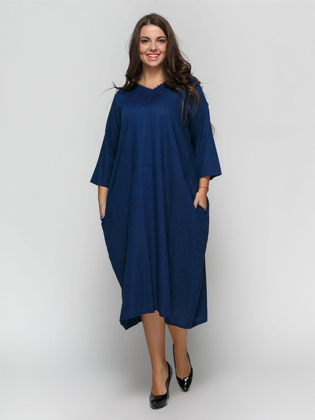 Платье темно-синее   4810105