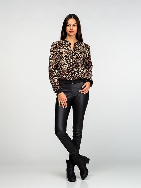 Бомбер в леопардовий принт | 4818193