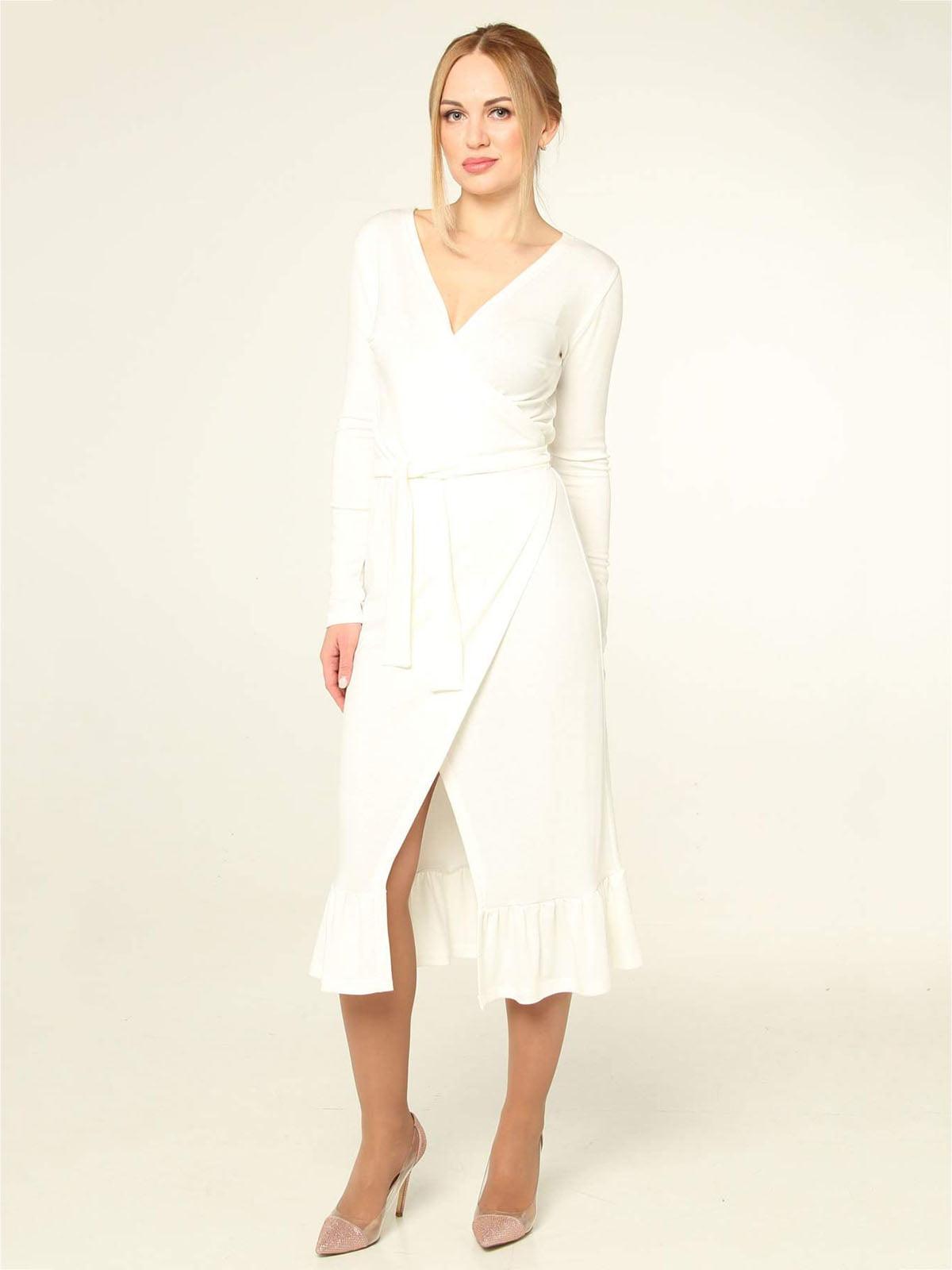 Платье молочного цвета | 4821023