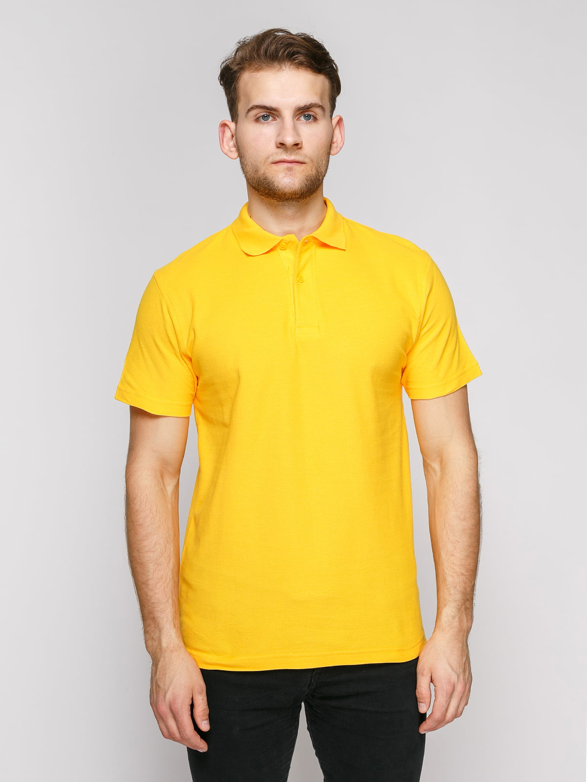 Футболка-поло желтая | 4812196