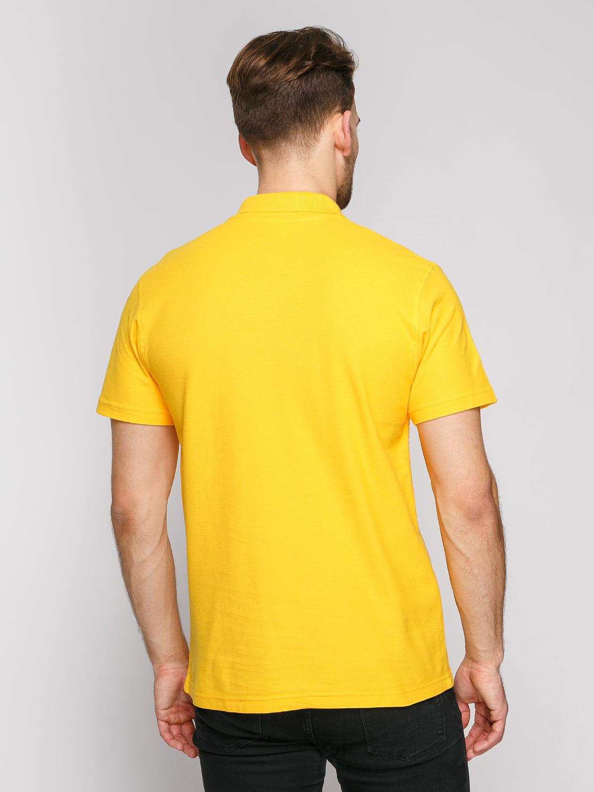 Футболка-поло желтая | 4812196 | фото 2
