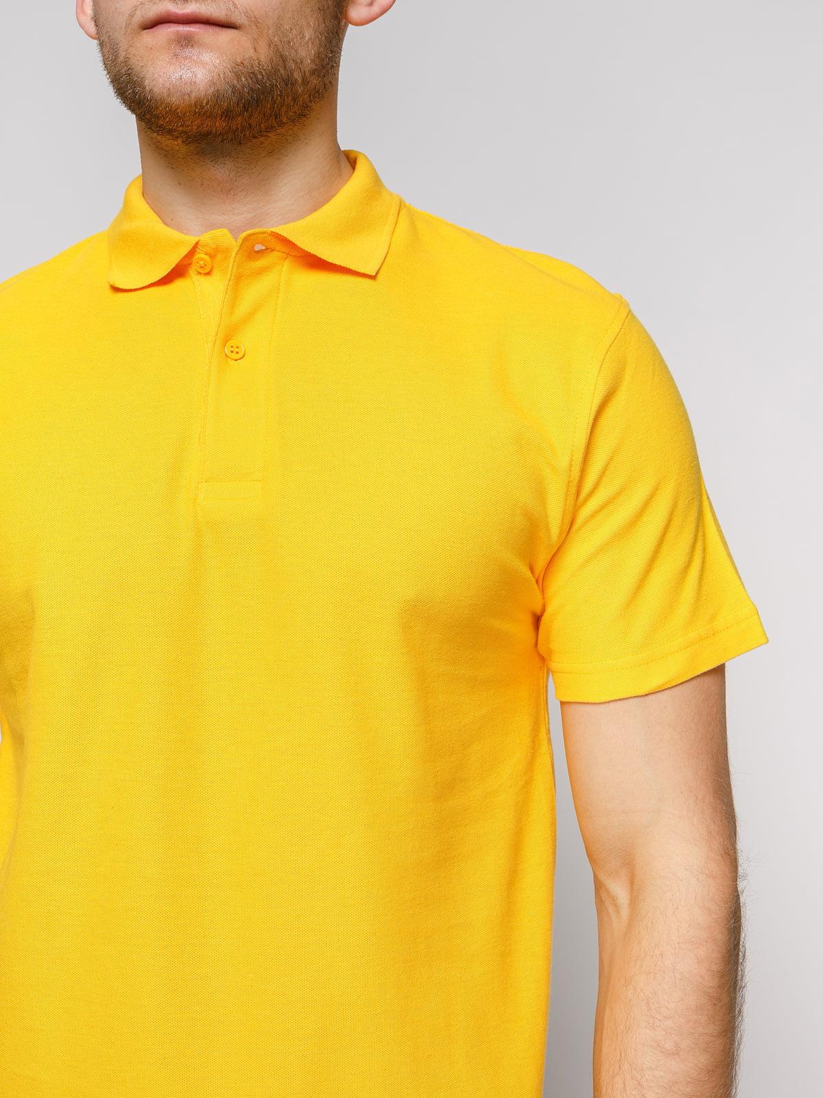 Футболка-поло желтая | 4812196 | фото 3