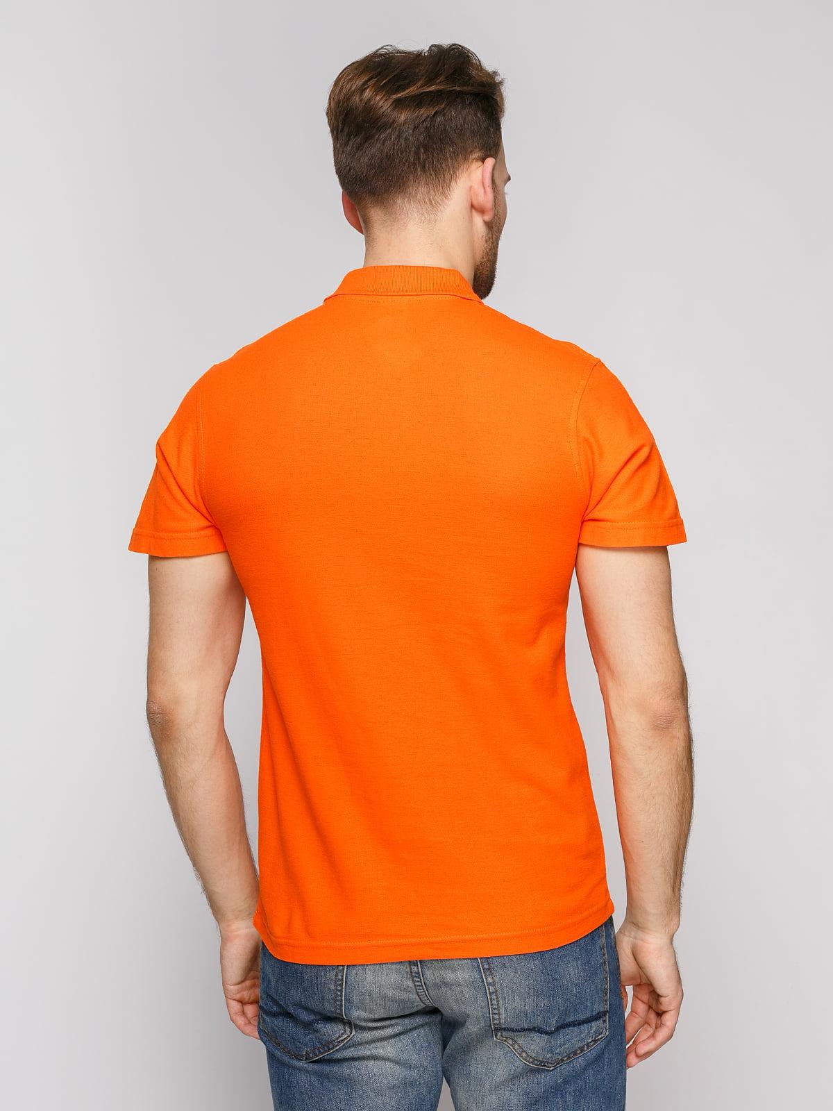 Футболка-поло оранжевая | 4812200 | фото 2