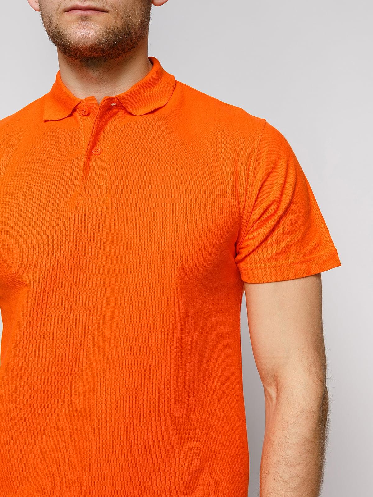 Футболка-поло оранжевая | 4812200 | фото 3