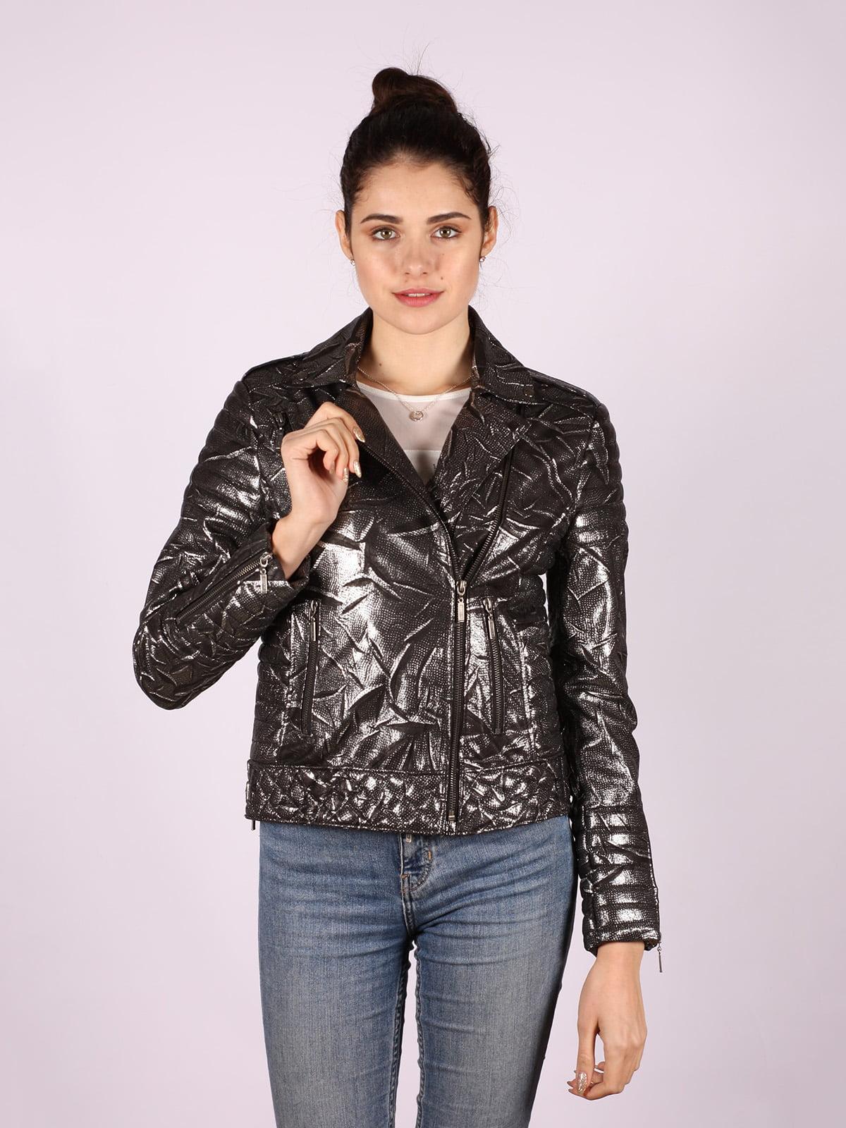 Куртка серебристого цвета | 4822639