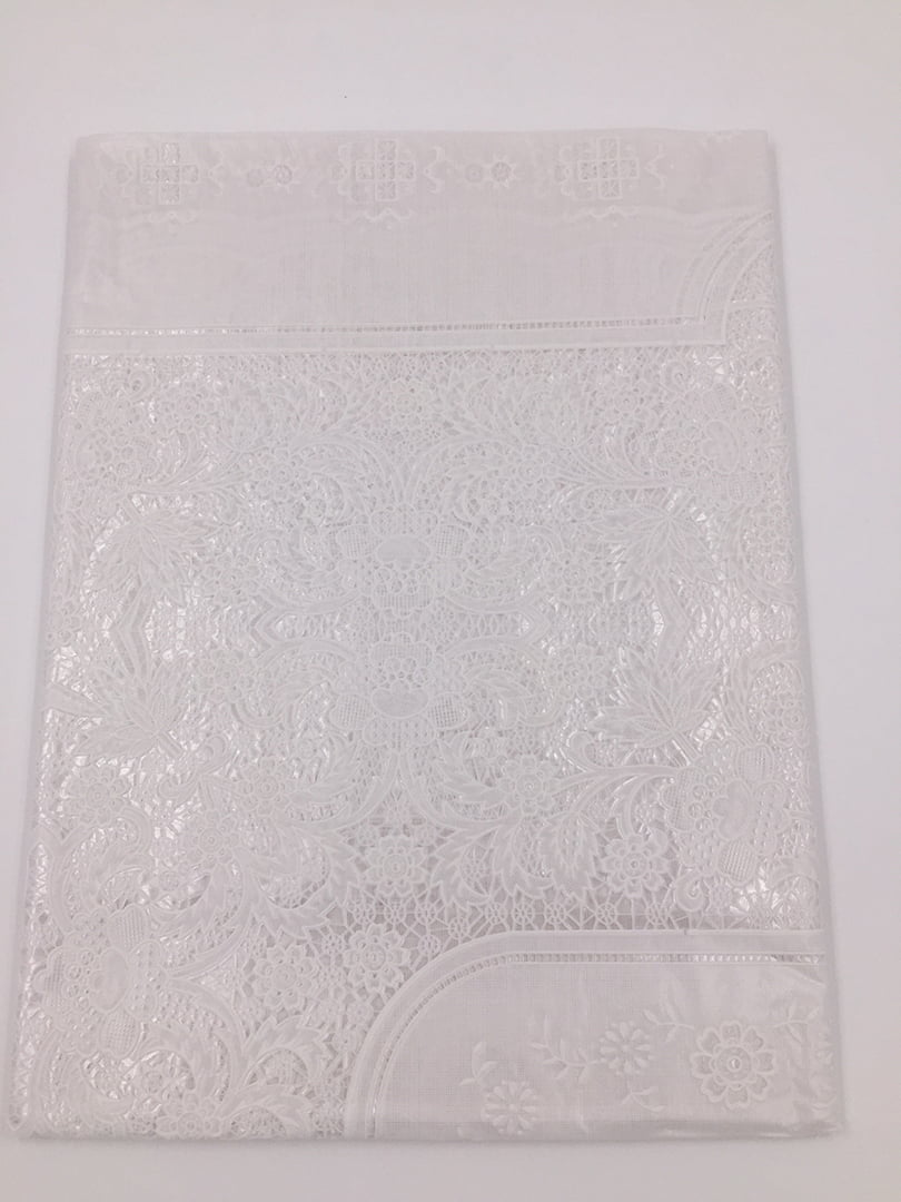 Скатертина біла (150х225 см) овальна | 4821542 | фото 2