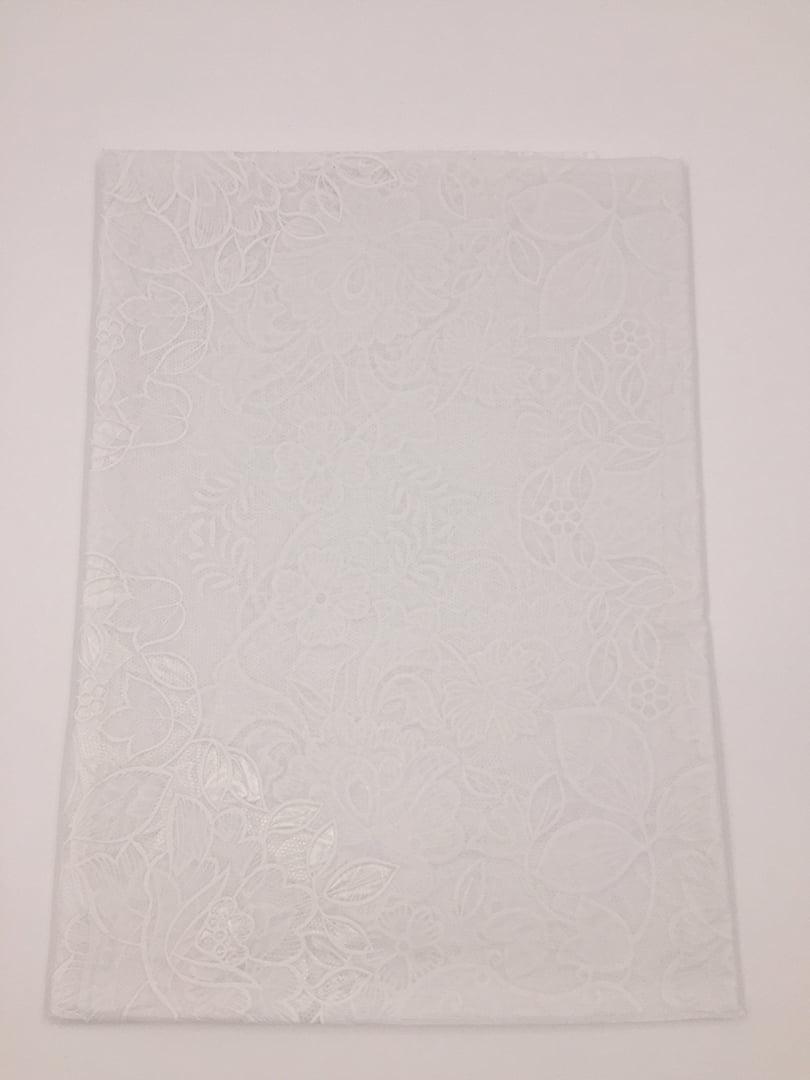 Скатерть белая (150 см) круглая   4821550   фото 2