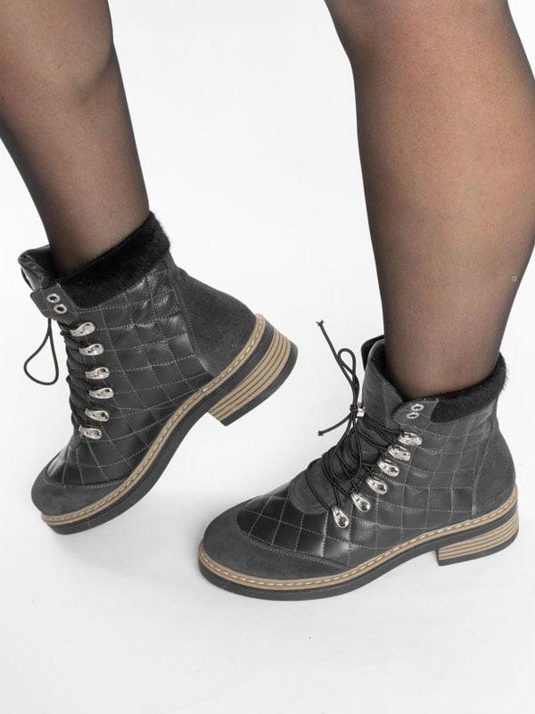 Ботинки темно-синие | 4822508 | фото 7
