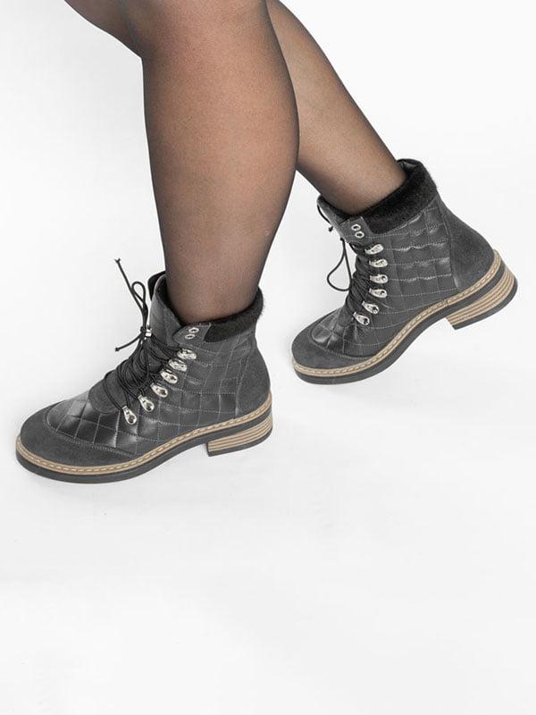 Ботинки темно-синие | 4822508 | фото 8