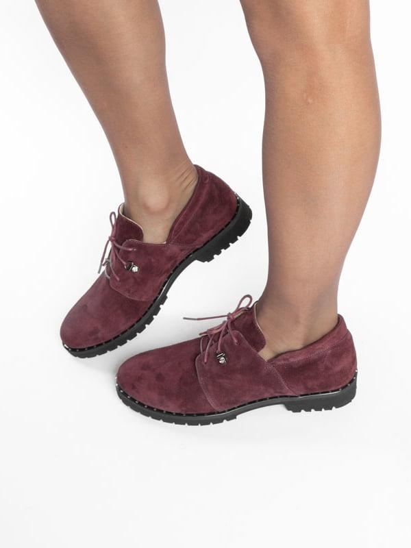 Туфли бордовые | 4822524 | фото 7