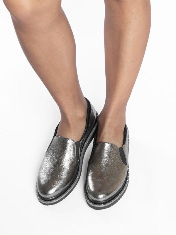 Туфли серебристого цвета | 4822563 | фото 7