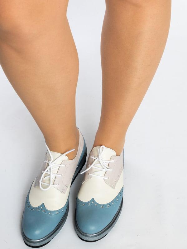 Туфли двухцветные   4822564