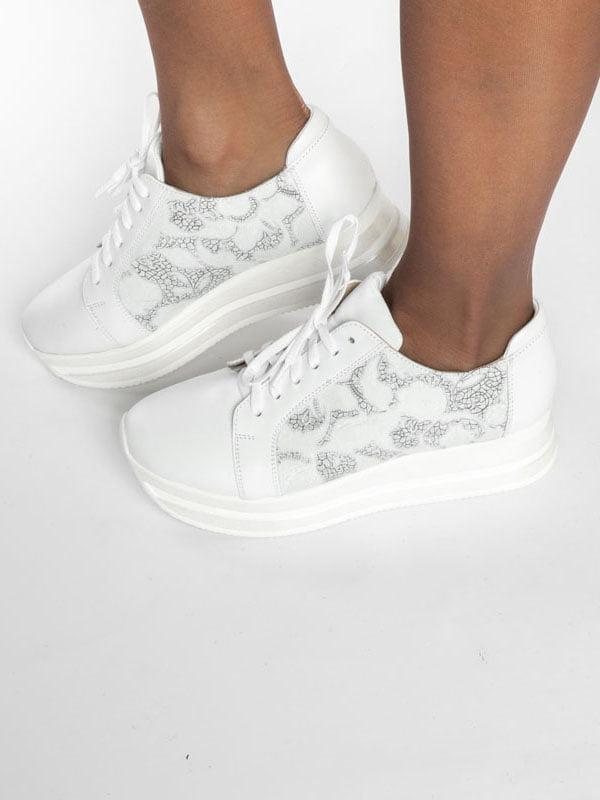 Кроссовки белые | 4822567 | фото 5