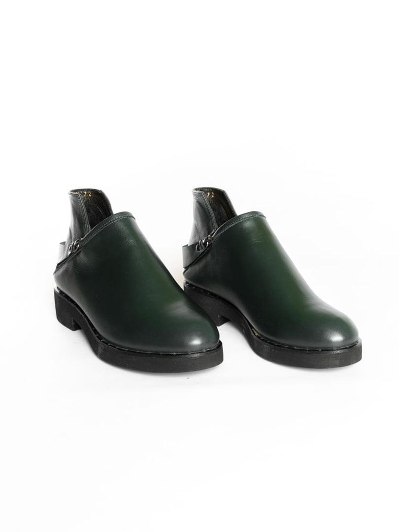 Ботинки темно-зеленые | 4822577