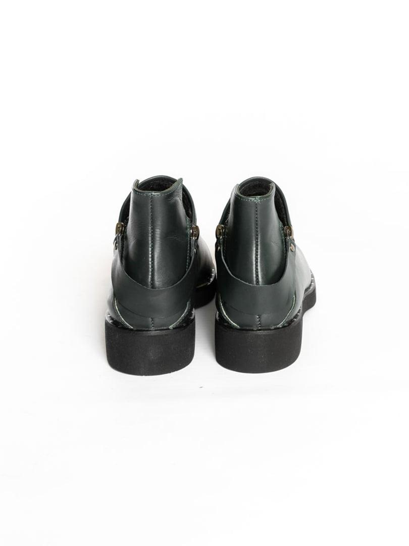 Ботинки темно-зеленые | 4822577 | фото 2