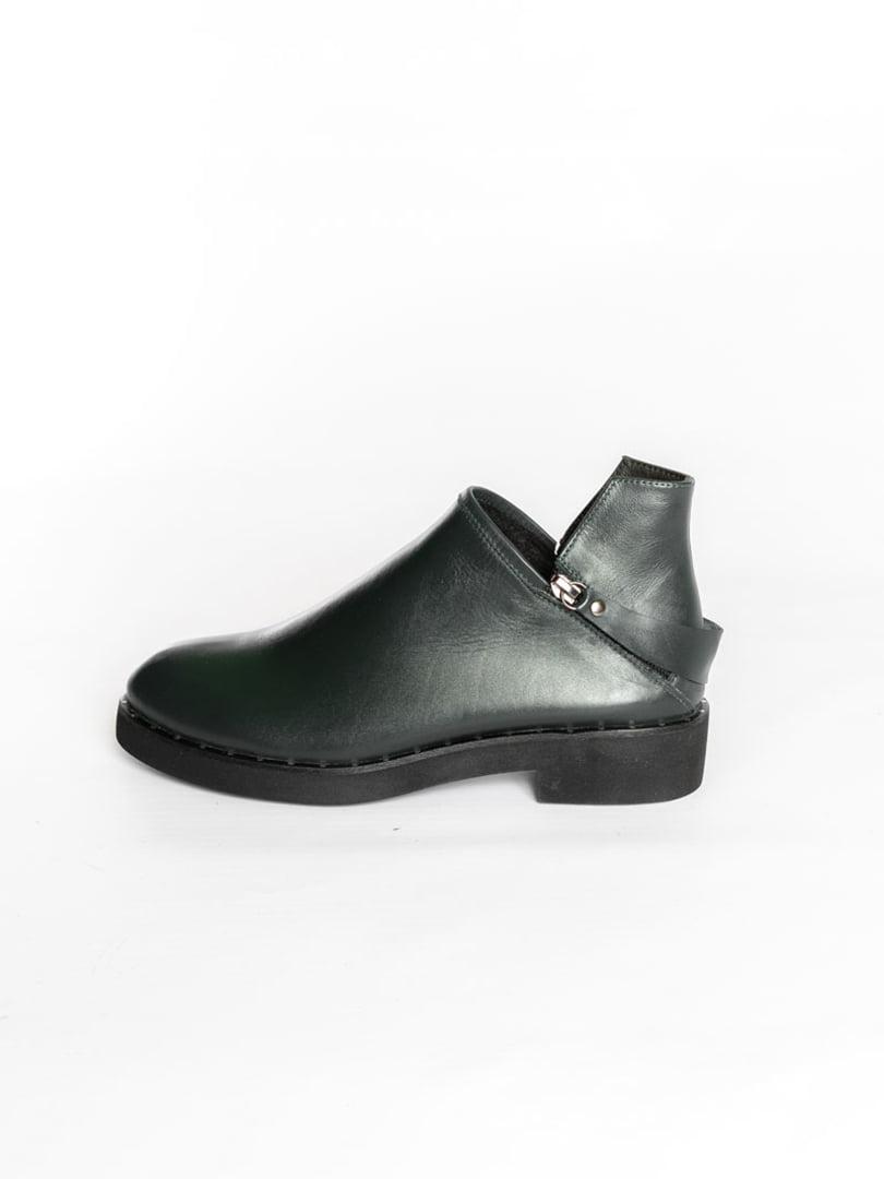 Ботинки темно-зеленые | 4822577 | фото 3