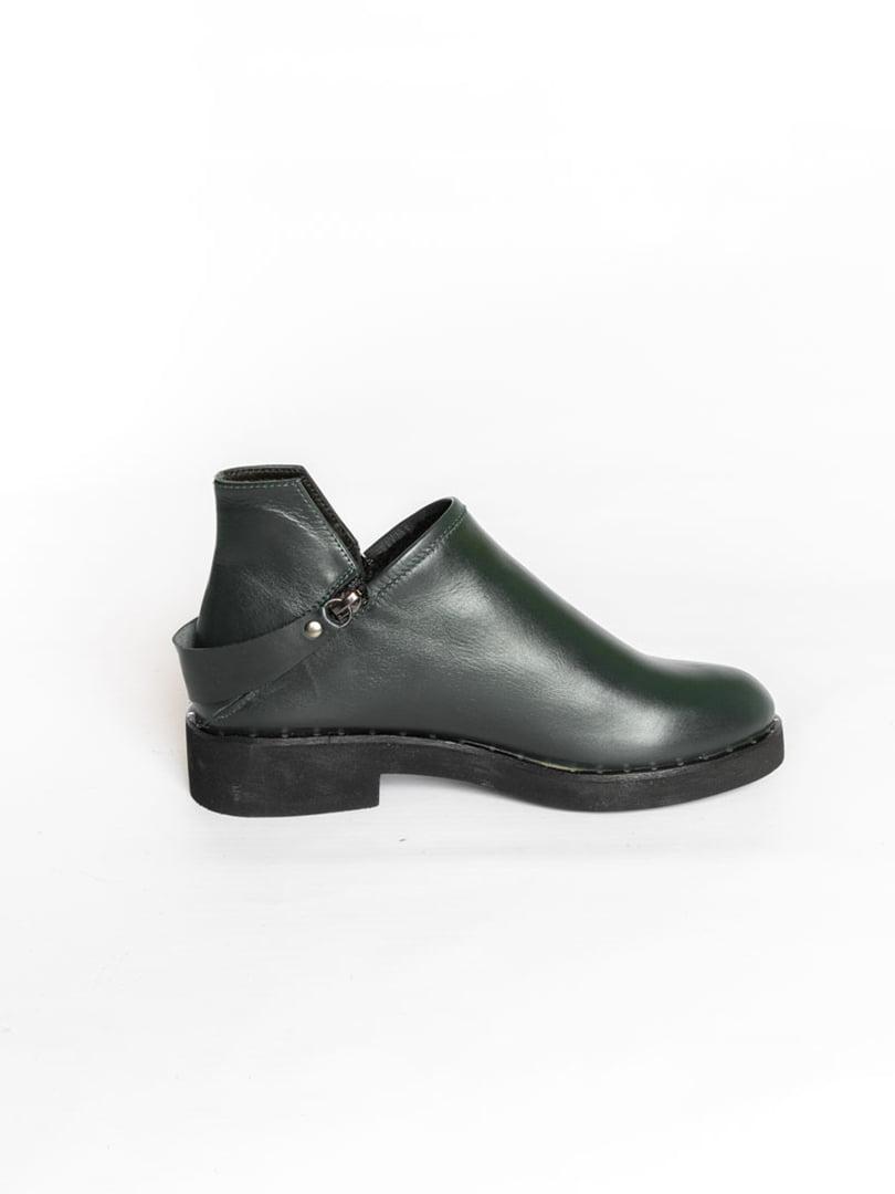 Ботинки темно-зеленые | 4822577 | фото 4