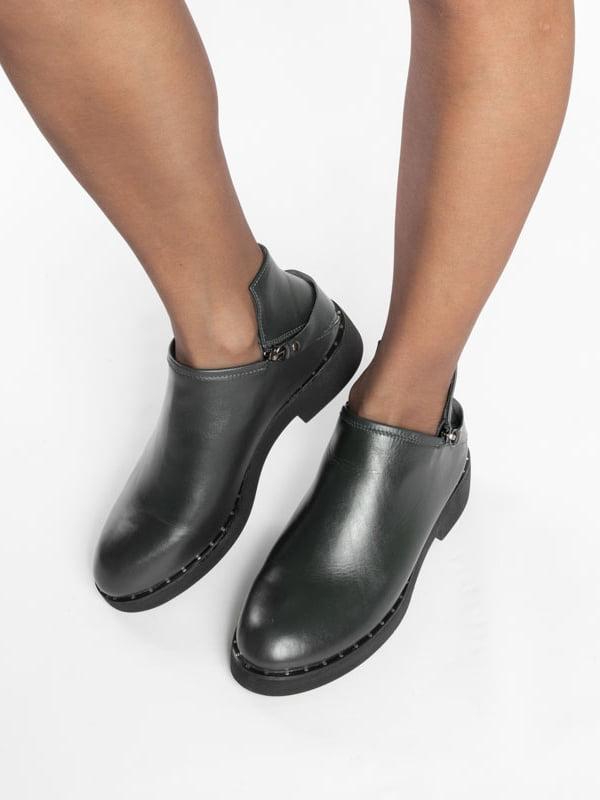 Ботинки темно-зеленые | 4822577 | фото 6