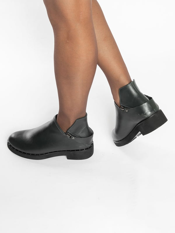 Ботинки темно-зеленые | 4822577 | фото 7