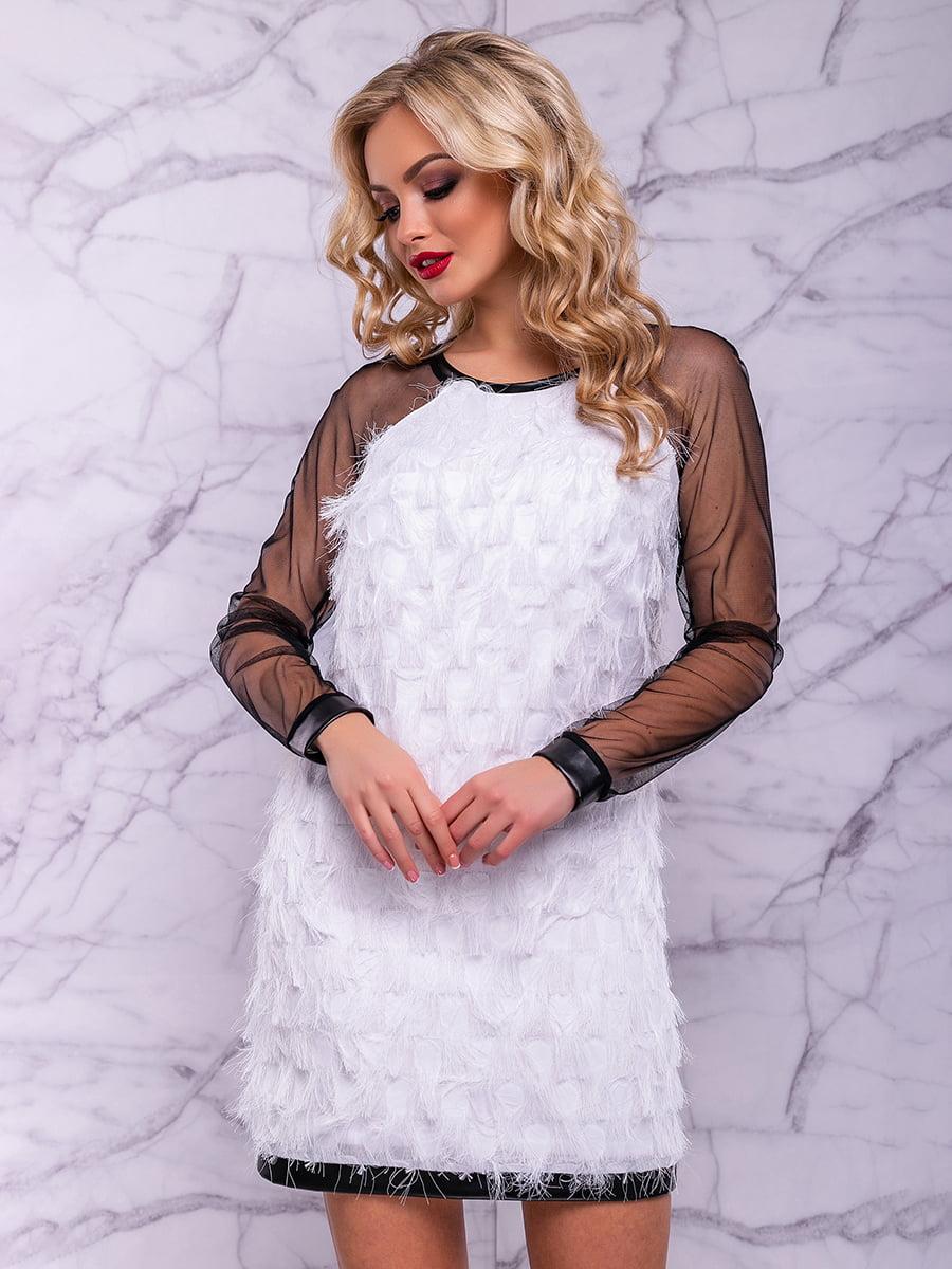 Платье бело-черное   4822881