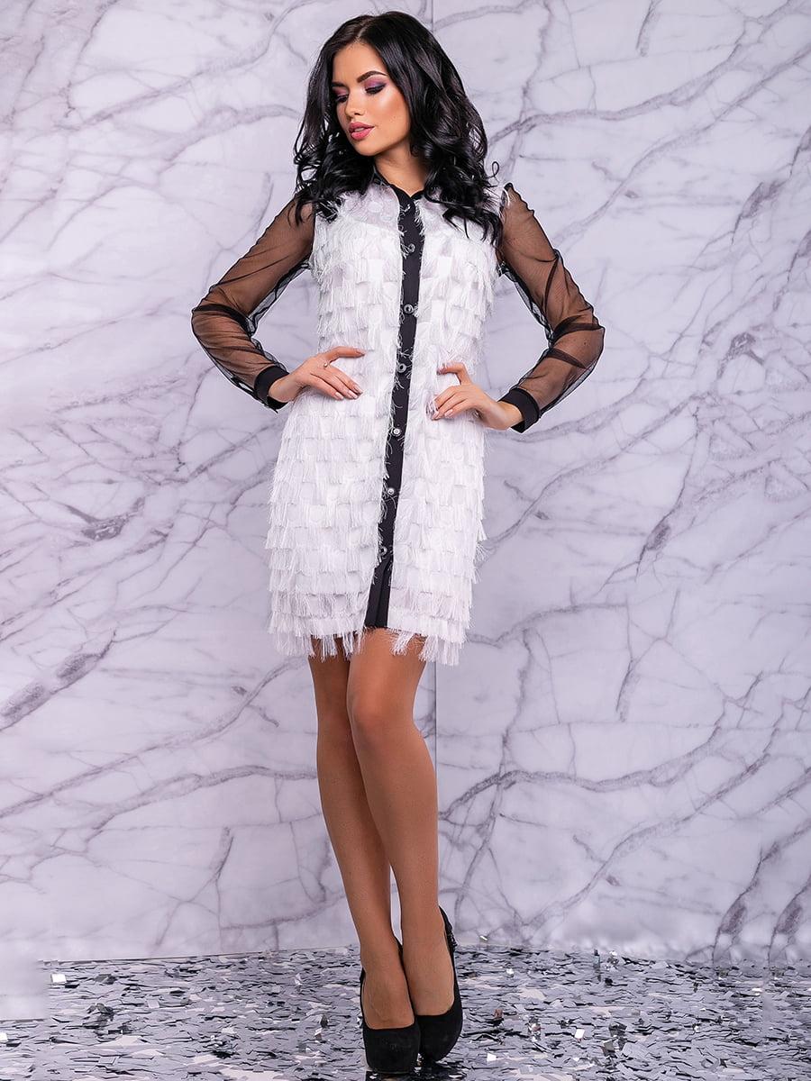 Сукня біло-чорна | 4822884 | фото 3