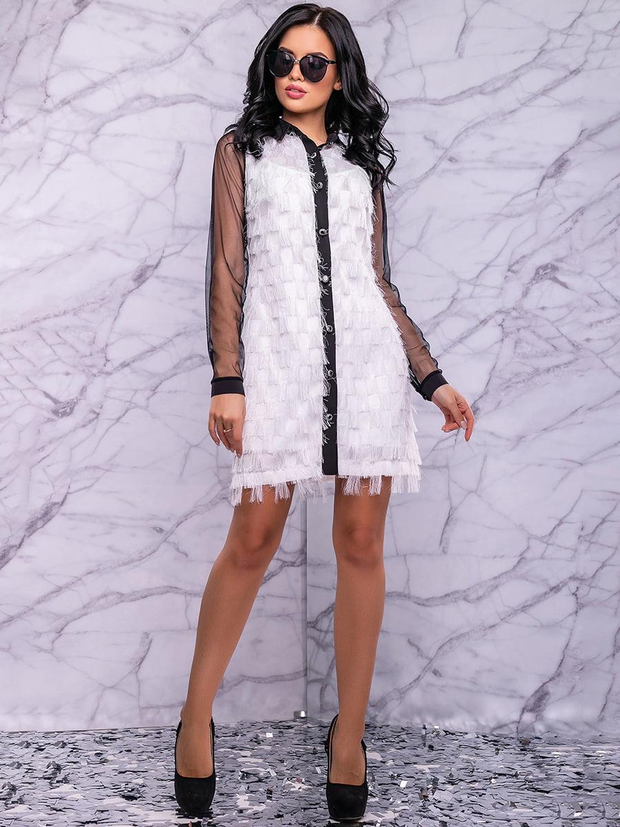Сукня біло-чорна | 4822884 | фото 4
